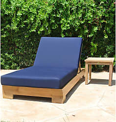 Willow Creek Designs Pacific Teak 2 Piece Outdoor Chaise Lounge with End Table Canvas Heather Beige - WC-4-5422