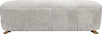 Kelly Wearstler Foot Bench In Shearling Upholstery