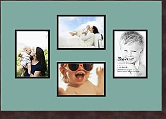 Art to Frames Double-Multimat-161-818/89-FRBW26061 Collage Frame Photo Mat Double Mat with 4-5x7 Openings and Espresso Frame