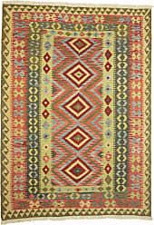 Nain Trading Oriental Rug Kilim Afghan 77x55 Beige/Brown (Wool, Afghanistan, Handwoven)