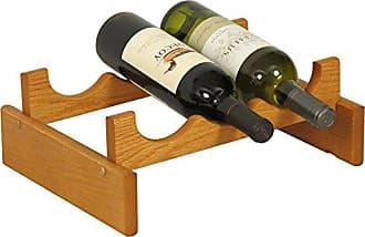 Wooden Mallet 3 Bottle Dakota Wine Rack, Medium Oak