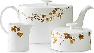Wedgwood 40033720 Vera Jardin Beverage Set, 3 Piece, White and Gold