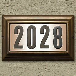 QualArc Edgewood Large Lighted Address Plaque Oil Rub Bronze - LTL-1301-ORB