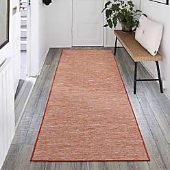 Ottomanson SUN2000-2X5 Sundance Collection Indoor & Outdoor Reversible 2 x 5 Red/Orange