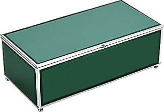Benzara Versatile Wood and Glass Storage, Green Wooden Box, 10.75 x 5.25 x 3.75 inches