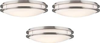 Philips Forecast Passage Satin Nickel Finish Ceiling Light (3 Pack)