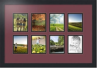Art to Frames Double-Multimat-175-594/89-FRBW26079 Collage Photo Frame Double Mat with 8 - 4x5 Openings and Satin Black Frame