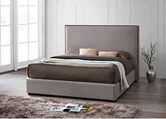Omax Decor Benjamin Upholstered Platform Bed - BU1014