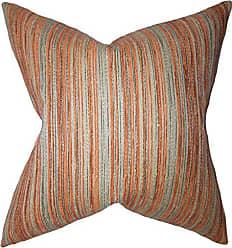 The Pillow Collection Bartram Stripes Bedding Sham Orange European/26 x 26