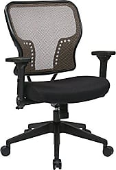 Office Star SPACE Seating AirGrid Back and Padded Mesh Seat, 2-to-1 Synchro Tilt Control, 4-Way Adjustable Flip Arms and Tilt Tension with Nylon Base Managers Chair, Latte