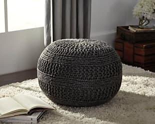 Ashley Furniture Benedict Pouf, Charcoal