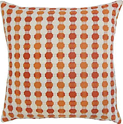 The Pillow Collection Erela Geometric Bedding Sham Tangerine Standard/20 x 26