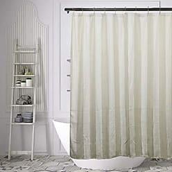 Duck River Textile Home Maison Newbury Fabric Shower Curtain Liner Mildew & Waterproof, 70 x 70, Beige