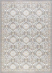 Tayse Robina Transitional Floral Taupe Non-Skid Rectangle Area Rug, 4 x 5