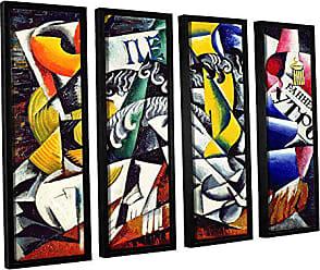 36 x 48 ArtWall Lyubov Sergeyevna Popovas Subject from A Dryers Shop 1914 4 Piece Gallery Wrapped Canvas Set Artwork