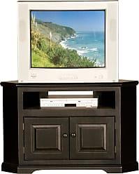 Eagle Furniture Savannah 41 in. Wood Panel Corner Entertainment Center - 92730WPBK