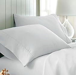 iEnjoy Home Simply Soft 2 Piece Ultra Soft Pillow Case Set, King, White