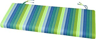 Cushion Source 45 x 17.5 in. Striped Sunbrella Bench / Glider Cushion Davidson Redwood - L9KL6-5606