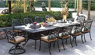 DARLEE Outdoor Darlee Elizabeth 11 Piece Rectangular Aluminum Patio Dining Set - DL707-11PC-302XL