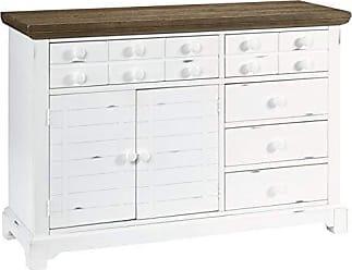Progressive Furniture D884-56 Server, Light Oak/Distressed White