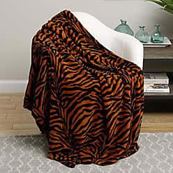 Ben&Jonah Animal Print Ultra Plush Brown Zebra King Size Microplush Blanket