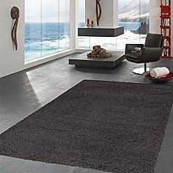 Ottomanson SHG2764-7X10 shag Collection Area Rug, 67 x 93, Charcoal Gray