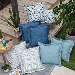 Belham Living New Harbor 18 x 18 in. Outdoor Toss Pillow - Set of 2 Indigo Stripe - NEW HARBOR52
