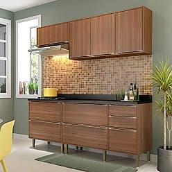 Multimóveis Cozinha Compacta 5 Peças 7 Portas Calábria Nogueira Multimóveis