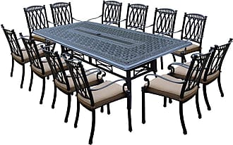Oakland Living Outdoor Oakland Living Morocco Aluminum 13 Piece Patio Dining Set Brown - 7208T-7215C12-D54-25-AB