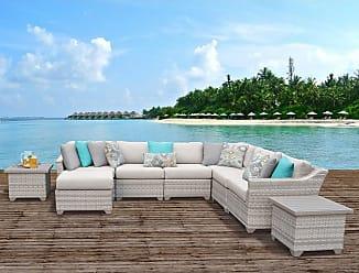 TK Classics Fairmont 9 Piece Outdoor Wicker Patio Furniture Set 09c (Size)