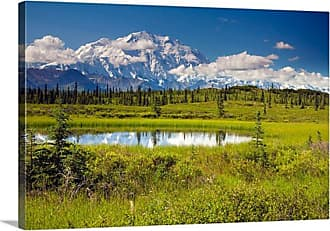Great Big Canvas Denali National Park Mt. McKinley and Kettle Pond Canvas Wall Art Print - AKSNSAA0022_24_24X16_NONE