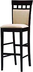 Coaster Gabriel 30 Upholstered Panel Back Bar Stools Cappuccino and Tan (Set of 2)