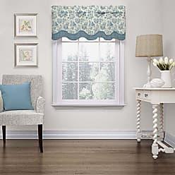 Ellery Homestyles Waverly 15404052018CRF Charmed Life 52-Inch by 18-Inch Wave Window Valance, Cornflower