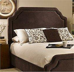 Hillsdale Furniture Hillsdale Furniture 1554HQRC Carlyle Headboard with Rails, Full/Queen, Chocolate