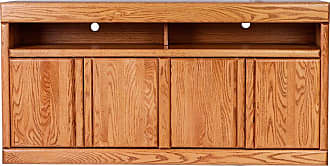 Forest Designs Bullnose TV Cart with Recessed Handles Unfinished Alder, Size: 60 in. - 4515- BG-60W-UA