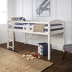 Walker Edison WE Furniture AZWSTOLLWH Loft Twin Bed, White