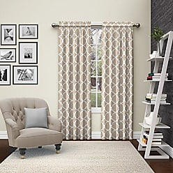 Ellery Homestyles Pairs to Go 15617056X063TAU Vickery 56-Inch by 63-Inch Window Curtain Pair, Taupe