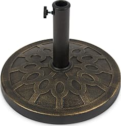Best Choice Products 18in Round Patio Umbrella Base Stand - Bronze