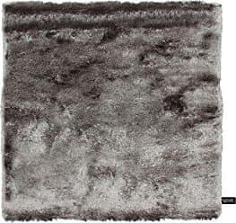 Benuta Shaggy Hochflor Teppich Whisper Quadratisch Grau 150x150 Cm |  Langflor Teppich Für Schlafzimmer Und Wohnzimmer