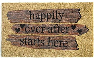 Geo Crafts Vinyl Back Happily Ever After Doormat