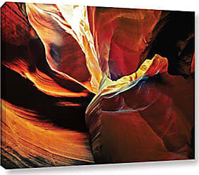 ArtWall Linda Parkers Slot Canyon Light from Above 2 Gallery Wrapped Canvas Artwork, 14 x 18