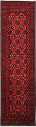 Nain Trading Handknotted Afghan Akhche Rug 93x27 Runner Dark Brown/Rust (Wool, Afghanistan)