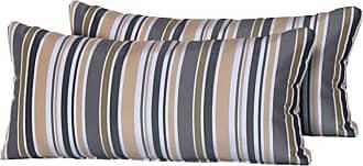 TK Classics Gold Stripe 22 x 11 in. Outdoor Throw Pillow - Set of 2 - PILLOW-GOLDSTR-R-2X