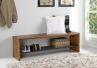 Walker Edison WE Furniture Reclaimed Wood Entry Bench in Amber - 58