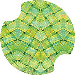 Thirstystone Hibiscus Garden Pattern Car Cup Holder Coaster, 2-Pack