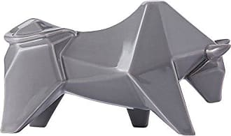 Varaluz Casa 401A12GR Origami Zoo Ceramic Bull Statue - Gray