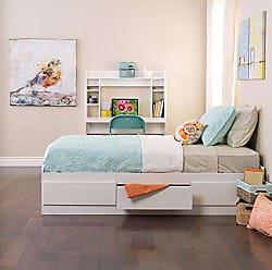 Prepac White Twin Mates Platform Storage Bed with 3 Drawers
