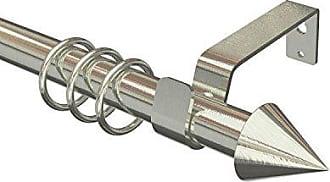 Vorhangstangen mit 19//16 mm Ø ausziehbare Gardinenstangen in Edelstahl-Optik