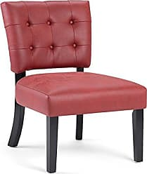 Simpli Home Simpli Home Greer Accent Chair, Ruby Red