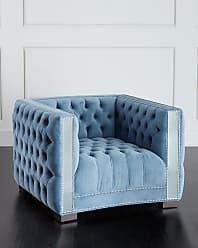 Haute House Home Manhattan Mirrored-Trim Chair